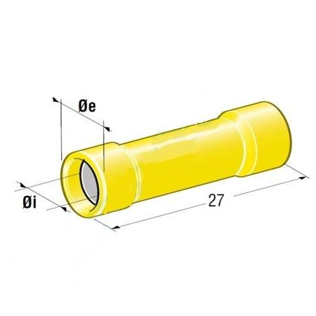 MTA - INSULATED BUTT CAPICORDA D3,4 GIALLO ( Conf. da 50 pz )
