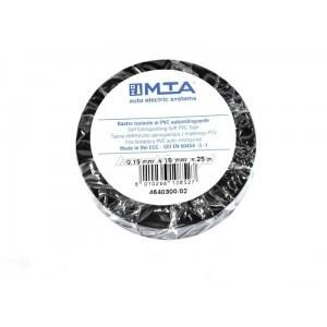 MTA - NASTRO ISOL. IN PVC 25mX19 MMX0,15 MM BLACK ( Conf. da 10 pz )