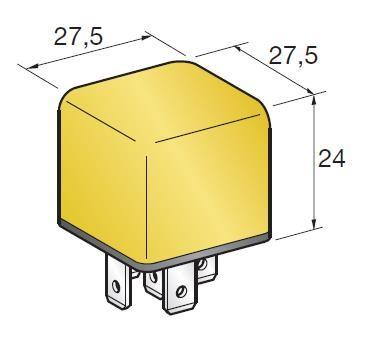 RELAY MINI 30A NO YELLOW ( Conf. 1 Pz )
